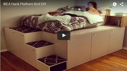 Genius DIY IKEA Platform Bed