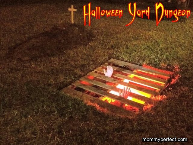 halloween yard dungeon