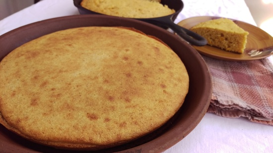Jalapeno Creamed Cornbread terra cotta Mommy Perfect