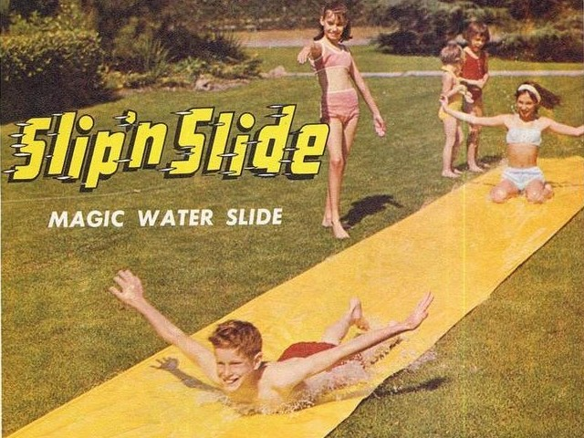 Retro Summer Break Slip n Slide Mommy Perfect