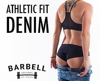 barbell apparel jeans athletic fit denim
