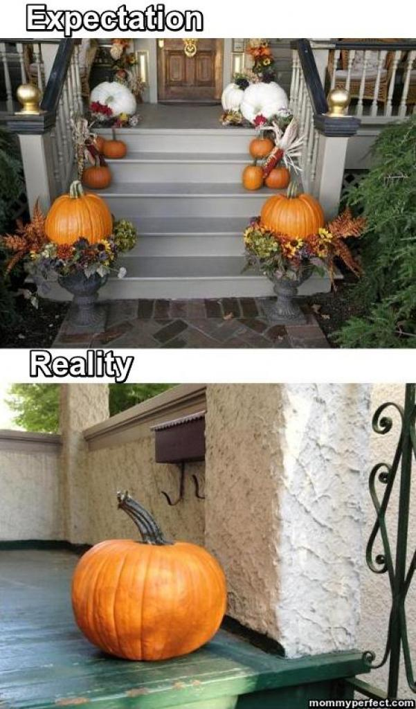 Halloween expectation vs reality