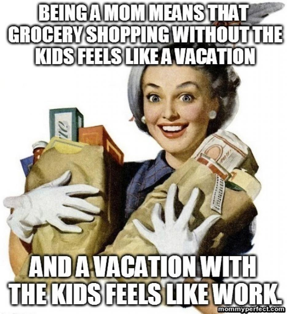 Grocery Shopping Without Kids