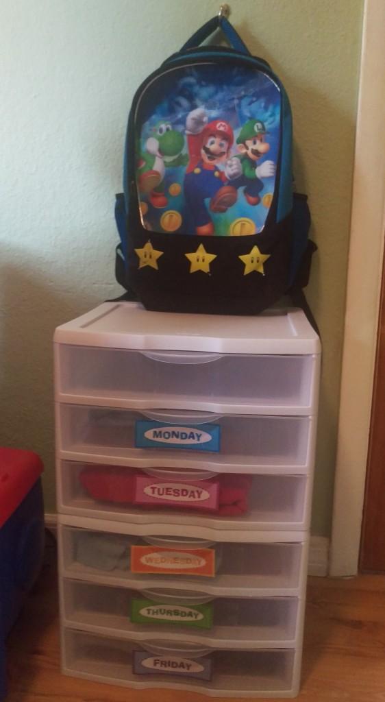 Make a School Clothes Organizer